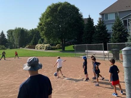 Kickball at Field day