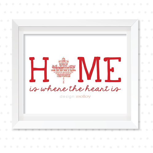 """Home is Where the Heart Is, 8x10"""" or 8.5x11"""""""