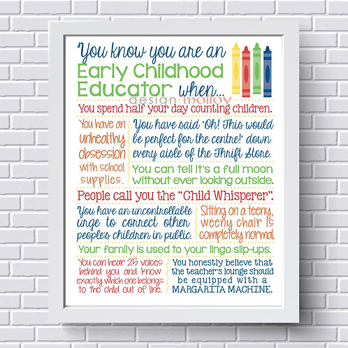 Early Childhood Educator Appreciation Print