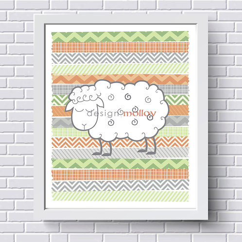 """Count Your Sheep Print, 8x10"""" or 8.5x11"""""""