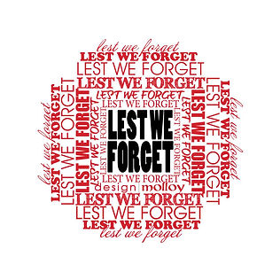 Word Art Lest We Forget Act of Remembrance