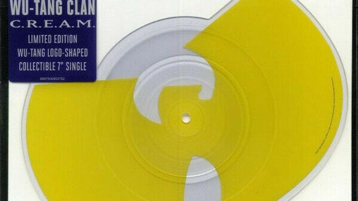 """Wu-Tang clan C.R.E.A.M. (Logo shaped 7"""" single)"""