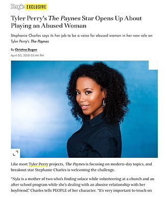 Tyler Perry's The Paynes Star Opens Up A