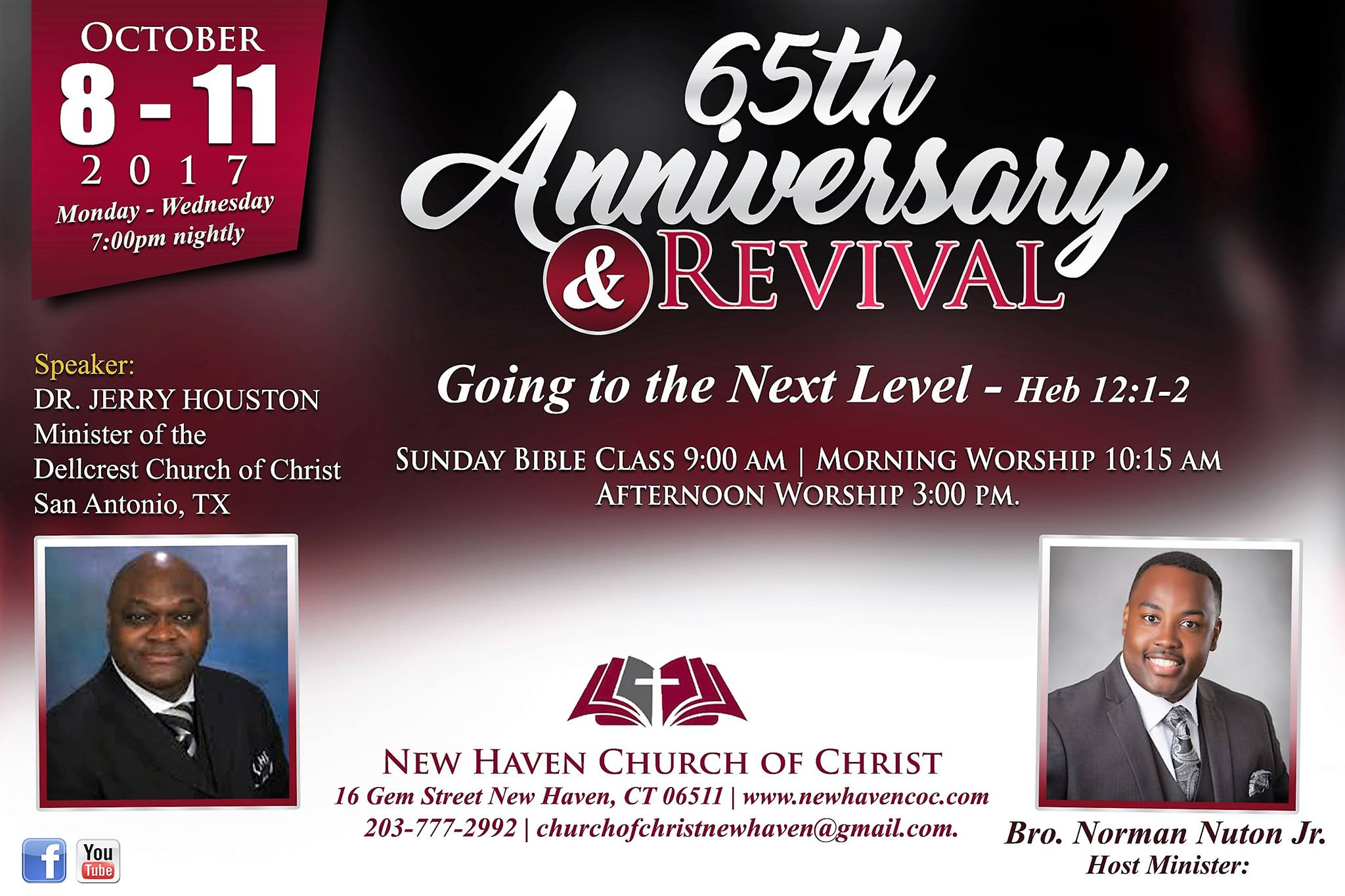 NHCOC Anniversary Revival Flier