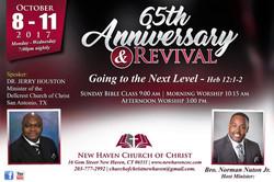 NHCOC Anniversary Revival Flier