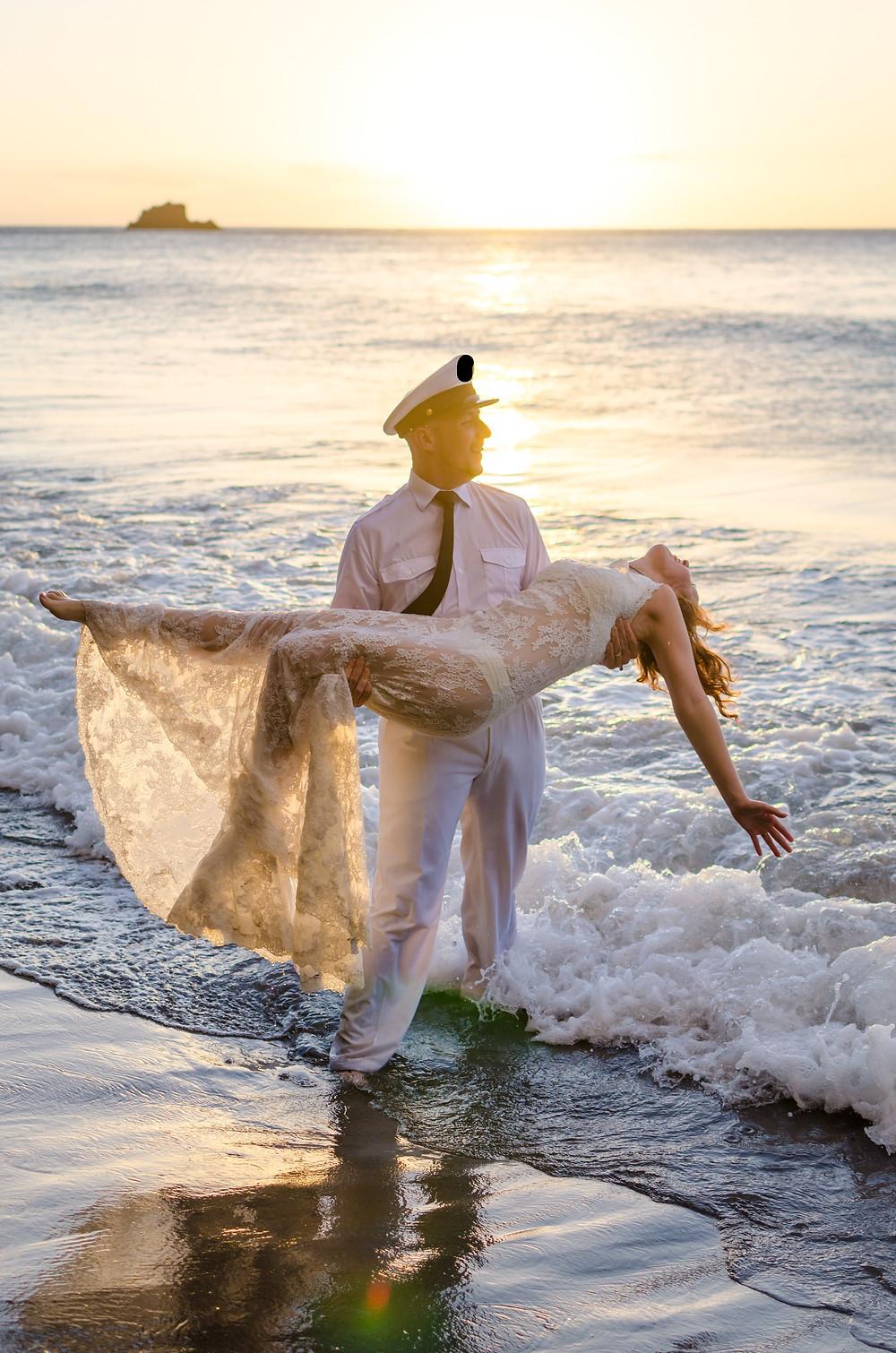 photographe mariage trash the dress martinique