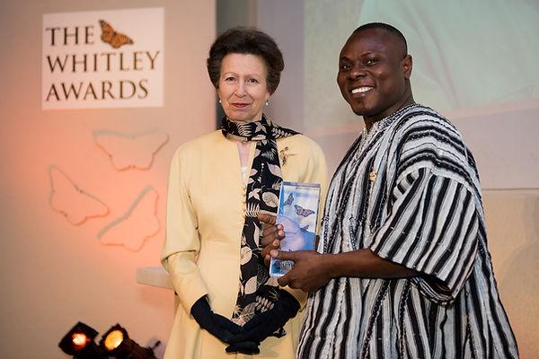 Gilbert Adum receives award from HRH Pri