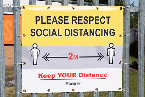 Covid-19 Social Distancing PVC Banner