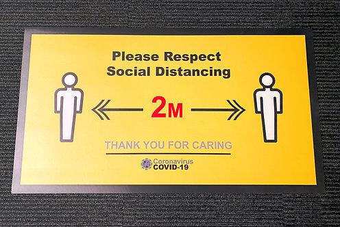 Covid-19 Social Distancing Vinyl Door Mat