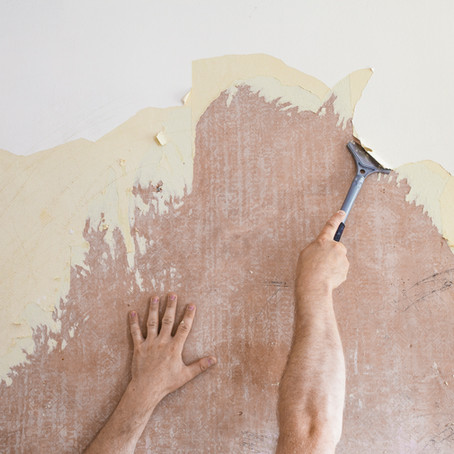 Don't paint over old wallpaper!