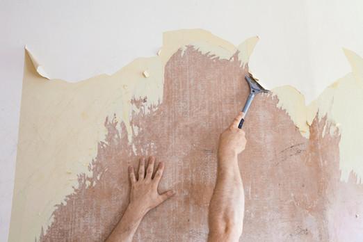 Schrapen van Wallpaper