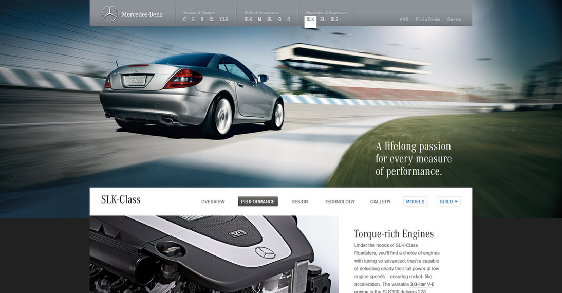 Mercedes-Benz USA Class & Model Page Redesign