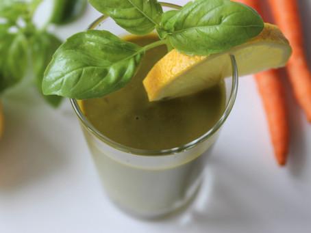 Carrot Avocado Basil Smoothie