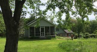 Field view with studio porch w. artist Daria Dorosh 2015