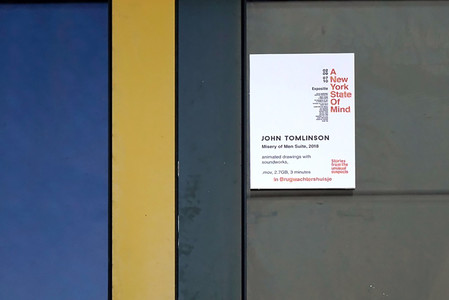 """Entrance sign to the Brugwachtershuisje (Bridge Watchman's House), venue for """"Misery of Men Suite"""" installation"""