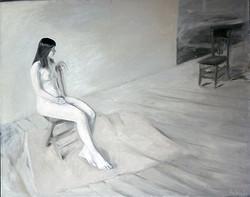 Daria Nude in Vermont Barn 1973
