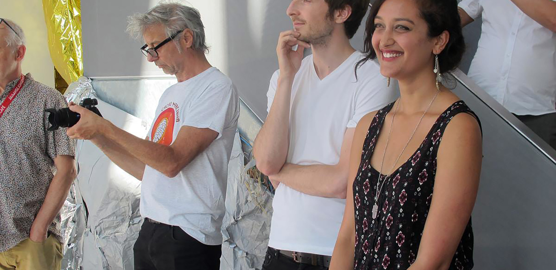 Expo curator Biek van Bree; artist Tanya Gupta