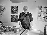 John Tomlinson at the studio table-2017-photo Noah Kalina