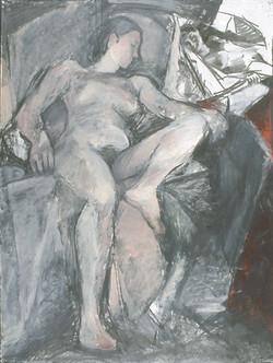 Nude in Drapery w. Mirror 1980