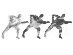Three Dancing Men