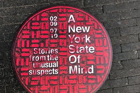 Manhole cover by artist Joe Gilmore