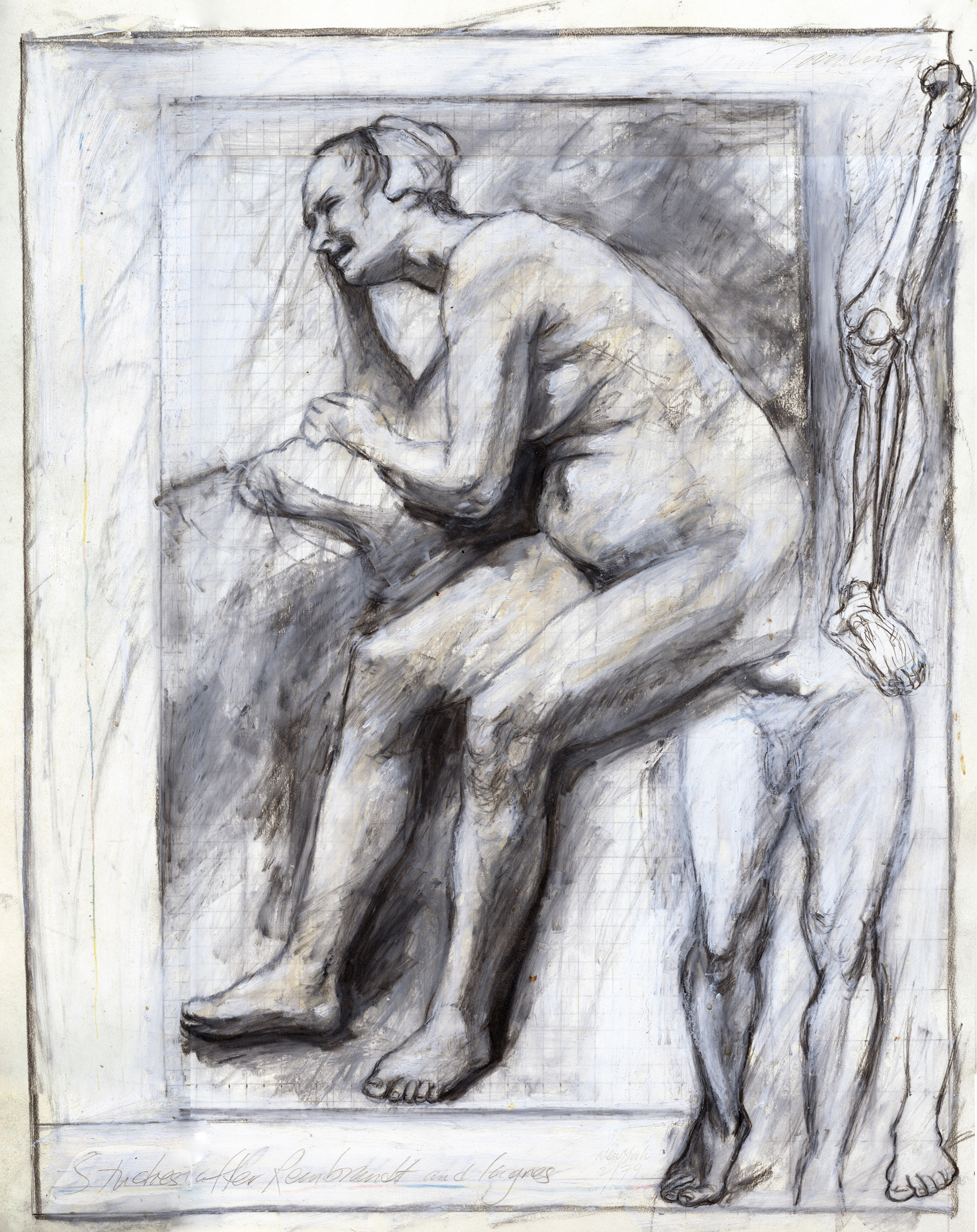 Studies after Rembrandt and Ingres