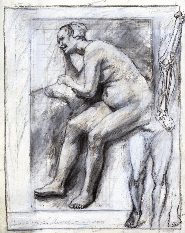 Studies after Rembrandt and Ingres