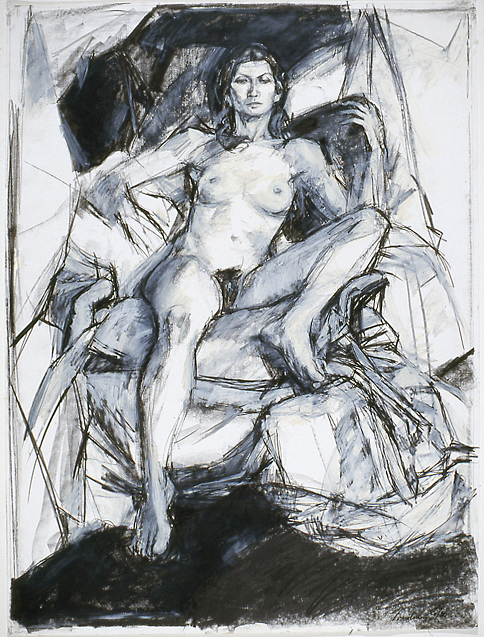 Nude in Drapery (Monica) 1980