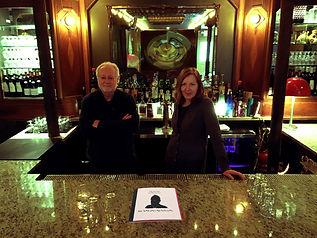 Co-authors poet Karen Morris and artist John Tomlinson, Narrowsburg, NY, U.S.A., 2016
