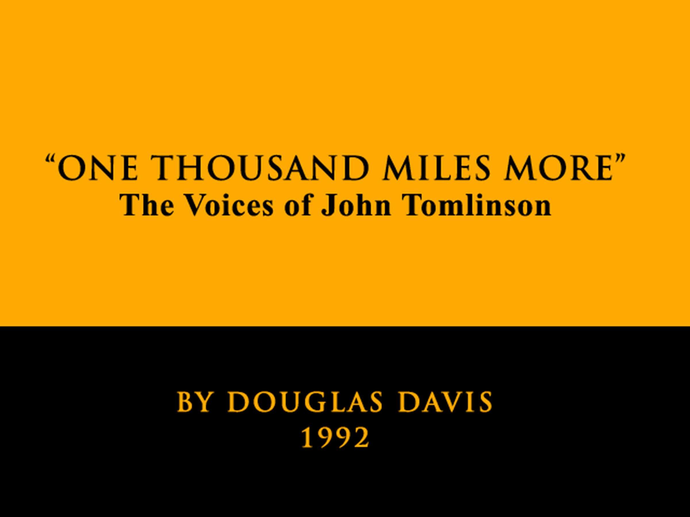 Essay by Douglas Davis