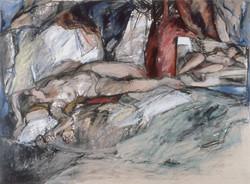 Reclining Female Nude w. Mirror