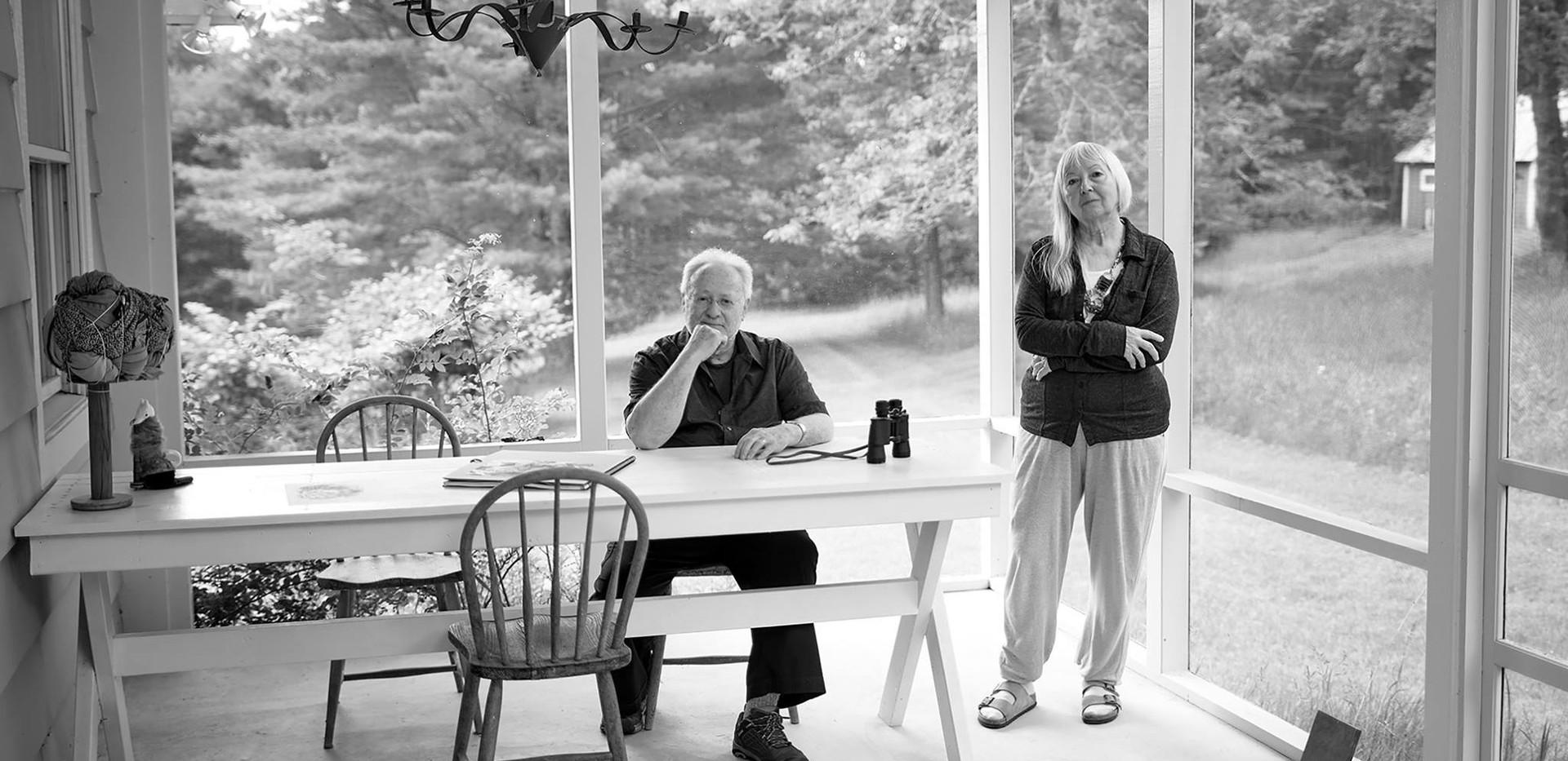 Artists John Tomlinson & Daria Dorosh on studio porch 2017