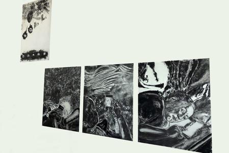 View of the installation of artist John Tomlinson's work