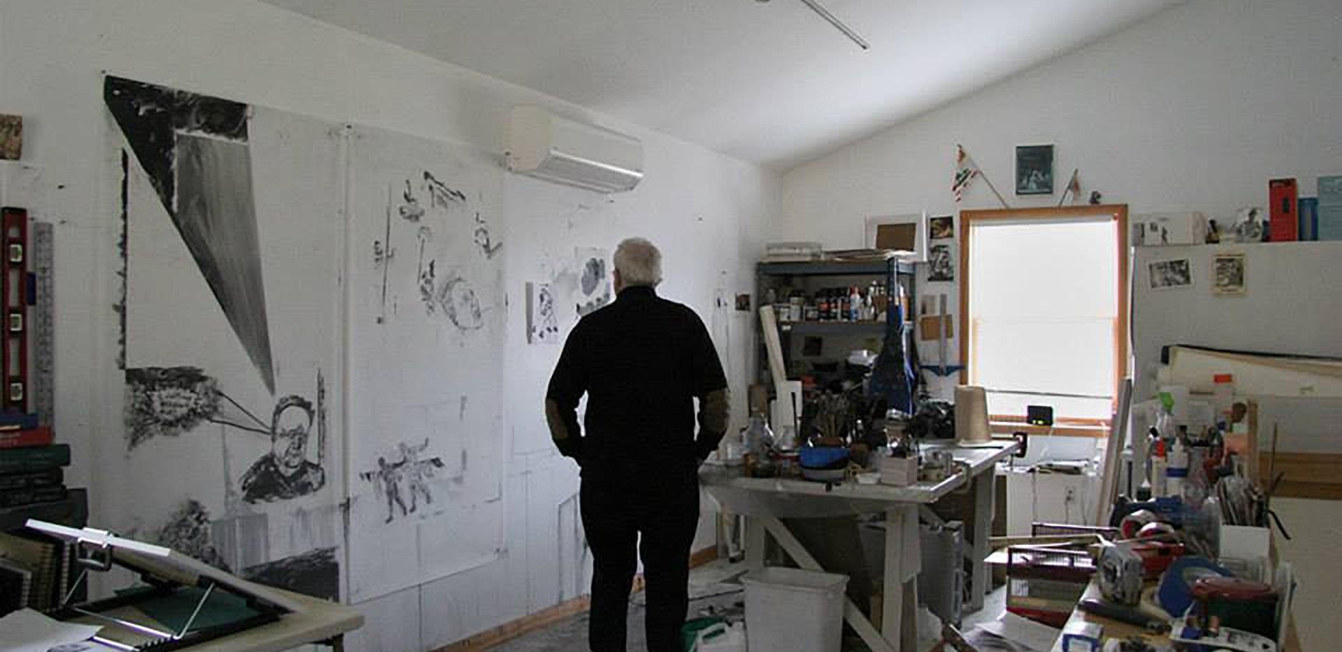 The artist in his studio 2015