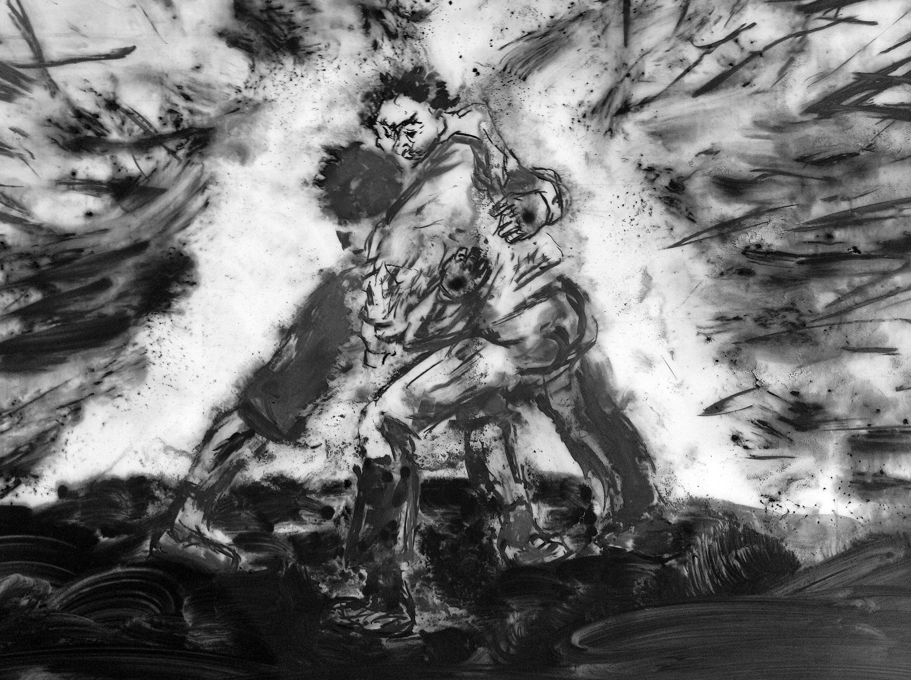 Fighting Men (after Goya)