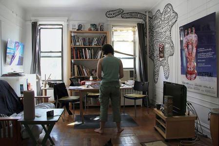 Curator Elise Tak in her Brooklyn apartment