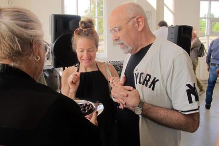 Ton serving artist/performer/gallerist Jim Kempner & friend