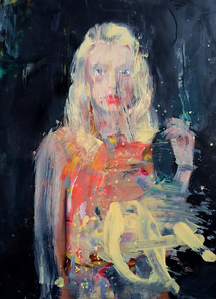Leonardo Vargas - Portrait - 26x20 cm - encadré