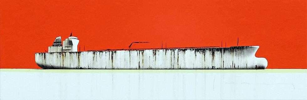 Stéphane Joannes - Tanker rouge  - 60x180cm