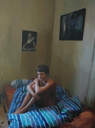 Şahin Çelikten - Portrait, Draps - 80x60 cm, non encadré