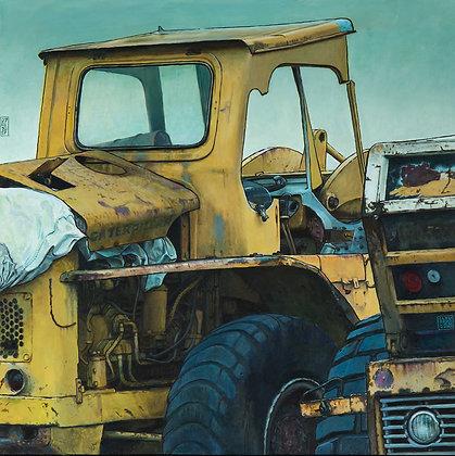 Claude Delamarre - Moteur bâchés - 50x50cm