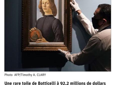 Record de prix pour un tableau de Botticelli