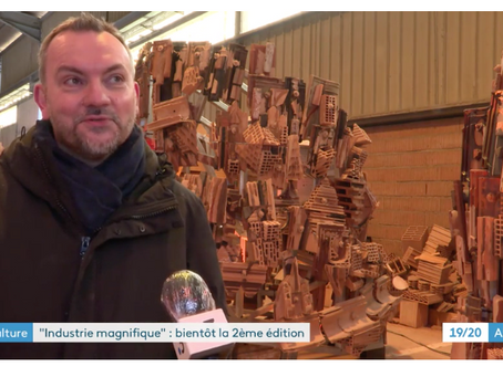 Reportage sur l'Industrie Magnifique qui présente la sculpture monumentale de Patrick Bastardoz.