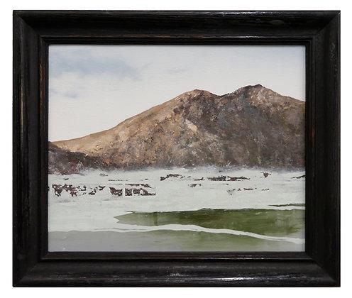 Patrick Cornillet - Lava -  32x38cm - Huile sur bois