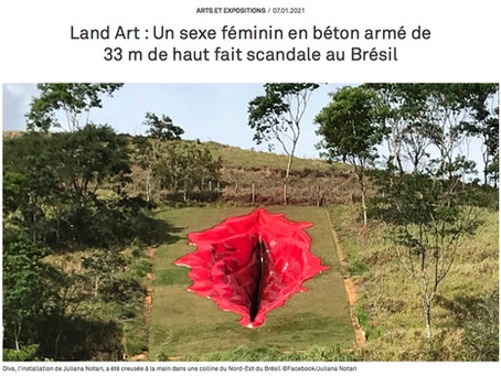 Land Art : Un sexe féminin en béton armé de 33 m de haut fait scandale au Brésil.