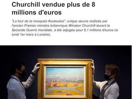 Record pour la vente d'une oeuvre de Winston Churchill à 8,125 millions de livres.