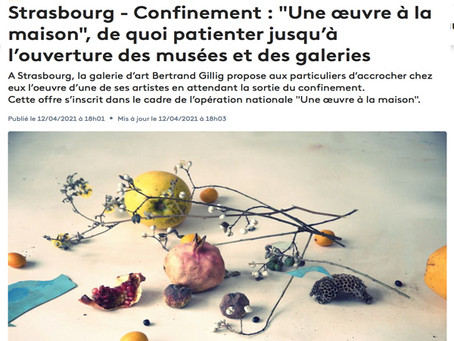 """Strasbourg - Confinement : """"Une œuvre à la maison"""", de quoi patienter jusqu'à l'ouverture des musées"""