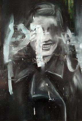 Leonardo Vargas - Portrait (Ingrid Bergman) - 60x40 cm