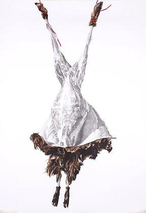 Valérie Etterlen - L'écorché - 120x100 cm