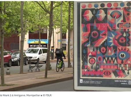 Street-art : Montpellier affiche ses artistes contemporains sur les panneaux publicitaires